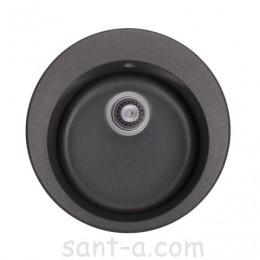 Гранітна кухонна мийка GRANADO VITORIA black shine 0101