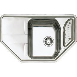 Кухонная мойка Teka из нержавеющей стали, микротекстура, врезная, 86х50см STAGE 45 B 11131023 Тека