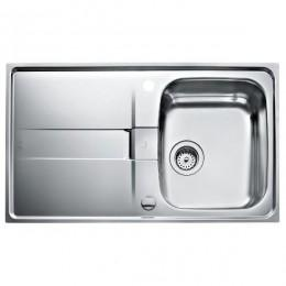 Кухонна мийка Teka з нержавіючої сталі, мікротекстура, врізна, 86х50см STAGE 45 B 10131015 Тека
