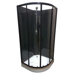 Черный душевой бокс Veronis BKV-1-07 90х90х193 (без крыши)