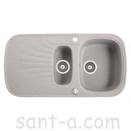 Врезная кухонная мойка Marmorin OREN 1,5k 1o полторы чаши, одно крыло (180 513 0xx)