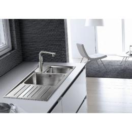 Кухонная мойка Teka из нержавеющей стали, полированная, врезная, 100х50см STAGE 60 B 30000592 Тека