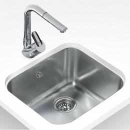 Кухонна мийка Teka з нержавіючої сталі, полірована, монтаж під стільницю, 53х43см BE 50.40.20 Plus 10125122 Тека
