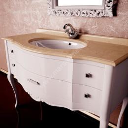 Тумба напольная для ванной комнаты 910x560 Marsan Angelique в цвете, белая/черная/венге** (Марсан 3-Анжелика)