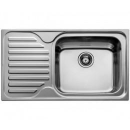 Кухонная мойка Teka из нержавеющей стали, врезная, 86x50см, цвет сталь полированная CLASSIC MAX 1B 1D LHD 11119201 Тека