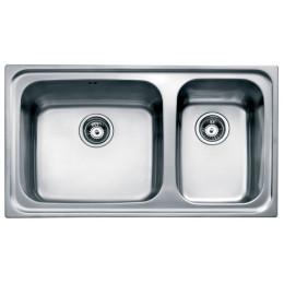 Кухонна мийка Teka з нержавіючої сталі, мікротекстура, врізна, 80х50см CLASSIC MAX 2B LHD 11119055 Тека