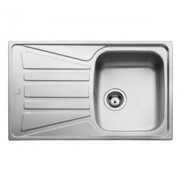 Кухонна мийка Teka з нержавіючої сталі, мікротекстура, врізна, 79х50см Basico 79 1B 1D 10124002 Тека