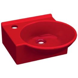 Умывальник Idevit Myra Mini 0201-0367-08, красный, левый 33x36,