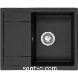 Гранітна кухонна мийка GRANADO ALTEA black shine 1301