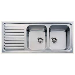 Кухонная мойка Teka из нержавеющей стали, полированная, врезная, 116х50см CLASSIC 2B 1D 10119023 Тека