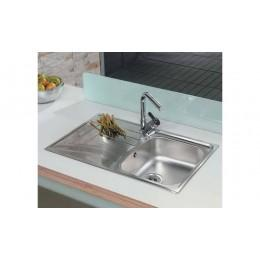 Кухонна мийка Teka з нержавіючої сталі, полірована, врізна, 79х50см UNIVERSO 1B 1D 79 10120035  Тека