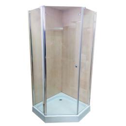 П'ятикутна душова кабіна Atlantis ACB-28 90x90x190 без піддону