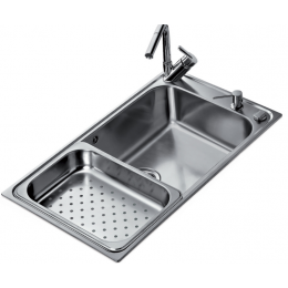 Кухонная мойка Teka из нержавеющей стали, полированная, врезная, 86x50см BAHIA 1B 12127001 Тека
