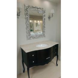 Підлогова Тумба для ванної кімнати 1170x560 Marsan Angelique в кольорі, біла/чорна/венге (Марсан 5-Анжеліка)