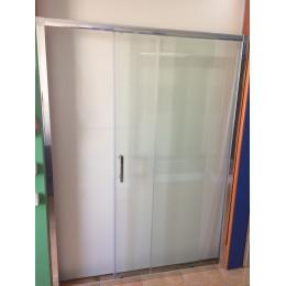 Душові двері Dusel FА-512b, 140х190, двері розсувні, скло прозоре