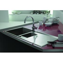 Кухонна мийка Teka з нержавіючої сталі, ґлянцева полірована, врізна, 100х50см LINEA 60 B 88173 Тека