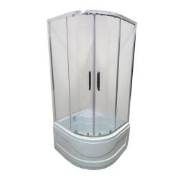 Душевой уголок с поддоном 90х90 Veronis KV-3-90 стекло прозрачное