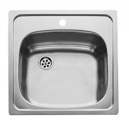 Кухонна мийка Teka з нержавіючої сталі, мікротекстура, врізна, 46,5х46,5см UNIVERSAL 465.465 1B 30000046 Тека