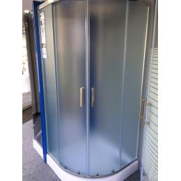 Душова кабіна Dusel A-511e, 90х90х190, двері розсувні, скло шиншила (матове)