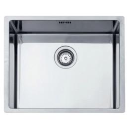 Кухонная мойка Teka из нержавеющей стали, полированная, монтаж под столешницу, 54х44см TOP BE LINEA 50.40 R15 10138005 Тека