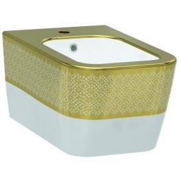 Биде Idevit Halley 3206-2605-1101, белый/декор золото
