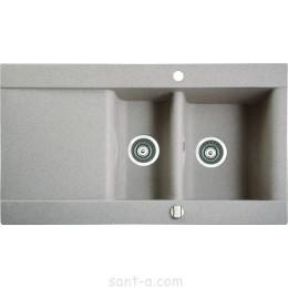 Врезная кухонная мойка Marmorin VOGA 1,5k 1o полторы чаши, одно крыло (110 513 0xx)