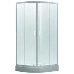 Душова кабіна Eger TISZA 90х90х185см, профіль білий, скло Zuzmara скла+двері 599-021/1(025345)