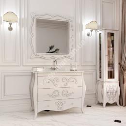 Тумба напольная для ванной комнаты 1050x560мм Marsan ARLETTE (Марсан 14-Арлетт), контур золото/серебро