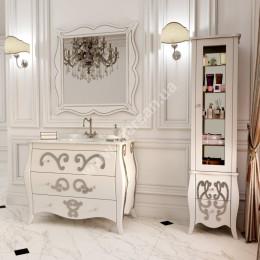 Підлогова Тумба для ванної кімнати 1050х560мм Marsan ARLETTE (Марсан 15-Арлетт), малюнок золото/срібло