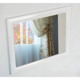 Зеркало для ванной комнаты Marsan VIRGINIE 90x75см в цвете (Марсан 1-Вирджинии) белое/черное/капучино