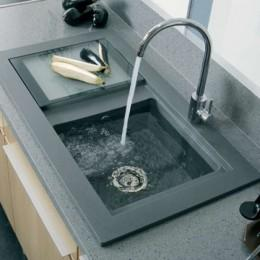 Кухонная мойка Teka из тегранита, врезная, 920х525мм, цвет cерый металлик 88568 AURA 45B TG Тека