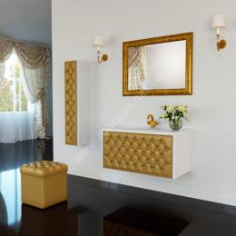 Зеркало для ванной комнаты Marsan VIRGINIE 90x75см в цвете (Марсан 4-Вирджинии) античное золото/серебро