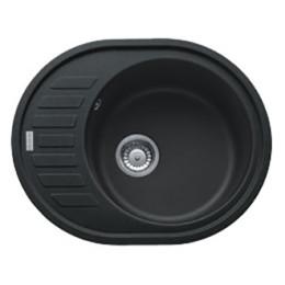 Кухонная мойка черная Franke Ronda ROG 611-62 114.0381.072, цвет оникс