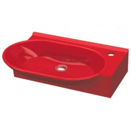 Умывальник Idevit Myra 0201-2505-08, красный, 33x56,5,
