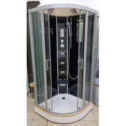 Душевой бокс Veronis BN-5-90 черный (передние стекла прозрачные) 90х90х220см