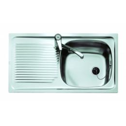 Кухонная мойка Teka из нержавеющей стали, матовая, врезная, 80х44см UNIVERSAL 800.440 1B 1D RHD 30000072 Тека