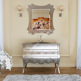 Тумба напольная для ванной комнаты без раковины Marsan DIANNE 1050x560 золото/серебро** (Марсан 5-Диана)
