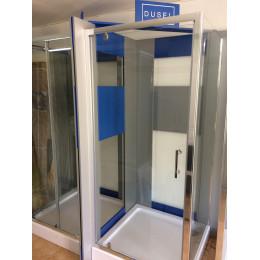 Душевая кабина Dusel A-516a, 90х90х190, дверь распашная, стекло прозрачное