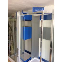 Душевая кабина Dusel A-516b, 90х90х190, дверь распашная, стекло тонированное