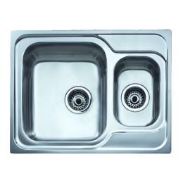 Кухонна мийка Teka з нержавіючої сталі, полірована, врізна, 65х50см CLASSIC 1 1/2B 10119087 Тека
