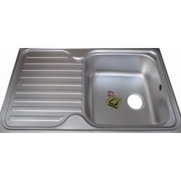 Кухонна мийка Teka з нержавіючої сталі, мікротекстура, врізна, 86х50см Classic 1B 1D 10119057 Тека