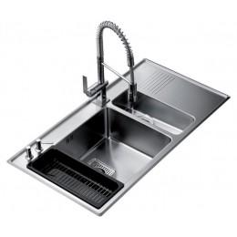 Кухонна мийка Teka з нержавіючої сталі, полірована, врізна, 97х51см FRAME 1 1/2B 1/2D RHD 40180531 Тека