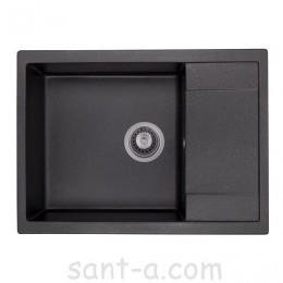 Гранітна кухонна мийка GRANADO LINARES black shine 0801
