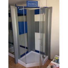 Душевая кабина Dusel А-715a, 90х90х190, пятиугольная, стекло прозрачное