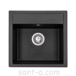 Гранітна кухонна мийка GRANADO MERIDA black shine 0301
