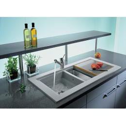 Кухонна мийка Teka з тегранита, врізна, 1060х525мм, колір білий 88401 AURA 60B TG Тека