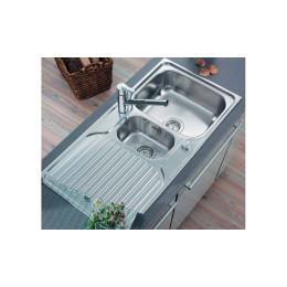 Кухонная мойка Teka из нержавеющей стали, полированная, врезная, 100х50см PRINCESS 1 1/2 B 1D 30000184  Тека