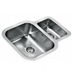 Кухонна мийка Teka BE 1 1/2 B 625 REV 10125160 з нержавіючої сталі, полірована, монтаж під стільницю
