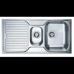Кухонная мойка Teka из нержавеющей стали, микротекстура, врезная, 100х50см PRINCESS 1 1/2 B 1D 30000174 Тека