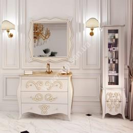 Зеркало в ваную Marsan ARLETTE 1000x1000мм, (Марсан 5-Арлетт) контур золото/серебро